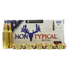 Federal Non-Typical Whitetail 243 WIN. 100 GR. SOFT PONT 20 RDS (243DT100)
