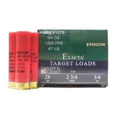Fiocchi 28 GA. 2-3/4 IN 3/4 OZ #7.5 SHOT 25 RDS (28VIPH75)