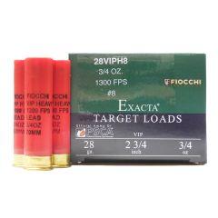 Fiocchi 28 GA 2-3/4 IN 3/4 OZ #8 SHOT 25 RDS (28VIPH8)