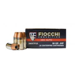 Fiocchi 380 AUTO 90 GR. JHP 25 ROUNDS (380XTP25)