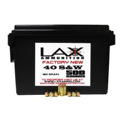 LAX Ammunition Factory New 40 S&W 180 GR 500 ROUNDS W/ Ammo Can