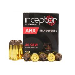 PolyCase INCEPTOR 40 S&W 97 GR ARX 20 ROUNDS - SELF DEFENSE -