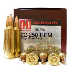 Hornady 22-250 REM 55 GR SP 50 RDS (83365)