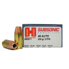 Hornady Subsonic 45 AUTO 230 GR XTP 20 ROUNDS (90971)