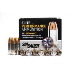 Sig Sauer 9 MM 147 GR V-CROWN JHP 20 RDS (E9MMA3)