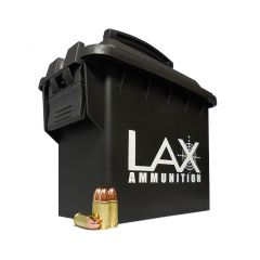 LAX Ammunition Factory New 9 MM 115 GR BRASS PLATED STEEL CASE 500 ROUNDS W/FREE AMMO CAN ~ SALE!!