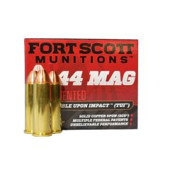 Fort Scott Munitions 44 MAG 200 GR. TUI Solid Copper Spun 20 ROUNDS
