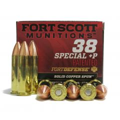 Fort Scott Munitions Fort Defense  38 SPCL +P 81 GR TUI SOLID COPPER SPUN 20 RDS
