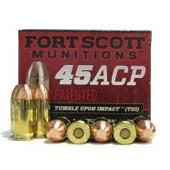 Fort Scott Munitions 45 AUTO 180 GR TUI SOLID COPPER SPUN DEFENSE AMMO ~  20 RDS