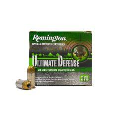 Remington Ultimate Defense 380 AUTO 102 GR BJHP 20 ROUNDS (HD380BN)