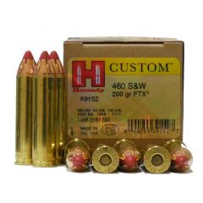 Hornady Custom 460 S&W 200 GR FTX 20 RDS (9152)