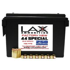 LAX Ammunition Factory New 44 SPECIAL 240 GR 250 RDS W/FREE AMMO CAN