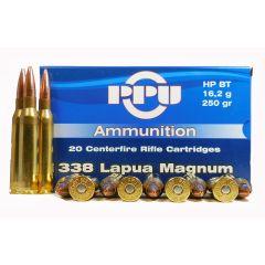 Prvi Partizan 338 Lapua Magnum 250 GR. HPBT 20 RDS (PP3.39)