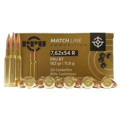 PRVI Partizan MATCH 7.62X54R 182 GR. FMJ-BT 20 RDS