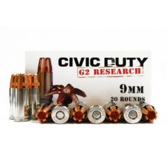 G2 Research Civic Duty 9 MM 94 GR 20 RDS