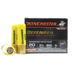 Winchester DEFENDER 20 GA. 2-3/4 IN SEGMENTED RIFLED SLUG 5 RDS (S20PDX1S)