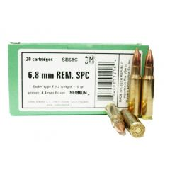 Sellier & Bellot 6.8 MM REM SPC 110 GR FMJ 20 RDS (SB68C)