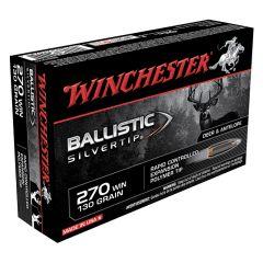 Winchester 270 WIN 130 GR Ballistic SilverTip 20 ROUNDS (SBST270)