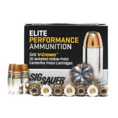 Sig Sauer 357 SIG 125 GR V-CROWN JHP 20 RDS (E357S1)