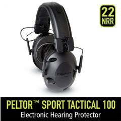 PELTOR SPORT TACTICAL 100 ELECTRONIC HEARING PROTECTION (TAC100-OTH)