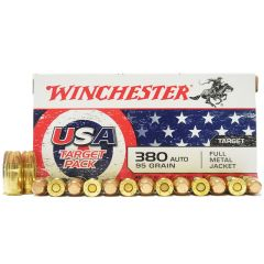Winchester USA Target Pack 380 AUTO 95 GR. FMJ (USA4206) SALE!