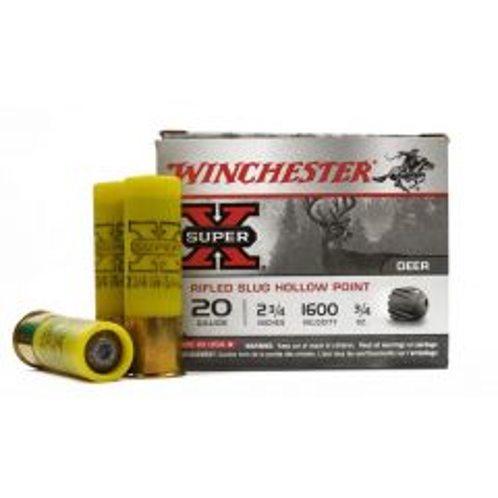 """Winchester 20 GA 2-3/4"""" RIFLED SLUG HP (X20RSM5)"""