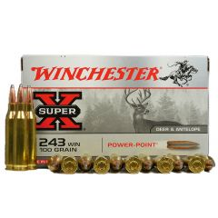 Winchester 243 WIN 100 GR Power Point (X2432)