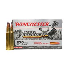 """Winchester 270 WIN 130 GR. """"COPPER""""  EXTREME POINT 20 RDS (X270DSLF)"""