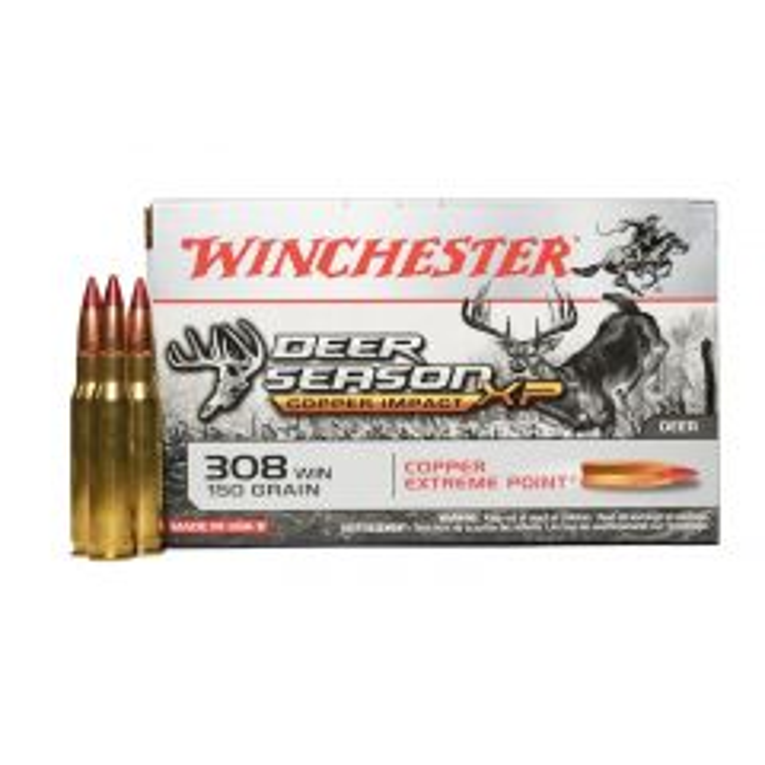Winchester 308 Win 150 GR Deer Season XP Lead Free 20 Rounds (X308DSLF)