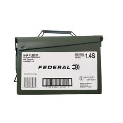 Federal 5.56 x45 MM  55 GRAIN FMJ 400 ROUNDS W/ AMMO CAN (XM193ML1X)