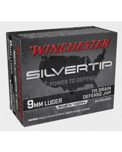 Winchester Silver Tip 9 MM 115 GR JHP 20 ROUNDS (W9MMST)