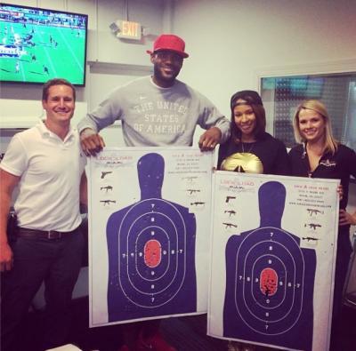 LeBron James Visits Miami Shooting Range